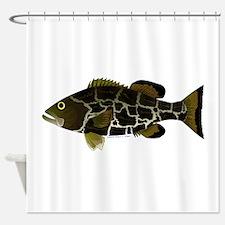 Black Grouper Shower Curtain