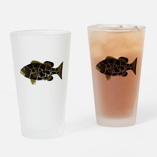 Black Grouper c Drinking Glass