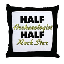 Half Archaeologist Half Rock Star Throw Pillow