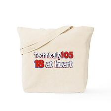 105 year old birthday designs Tote Bag