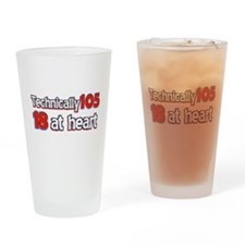 105 year old birthday designs Drinking Glass