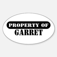 Property of Garret Oval Decal