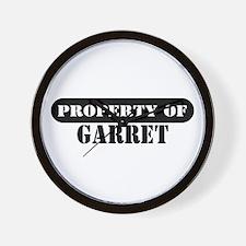 Property of Garret Wall Clock