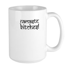 Namaste Bitches Yoga Pink Mugs