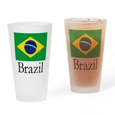 Brazil Flag Drinking Drinking Glass