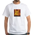 Devil Kitty Cat White T-Shirt