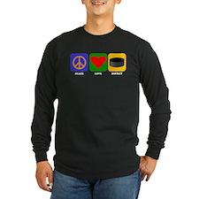 Peace Love Hockey Long Sleeve T-Shirt