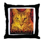 Devil Kitty Cat Throw Pillow