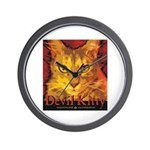 Devil Kitty Cat Wall Clock