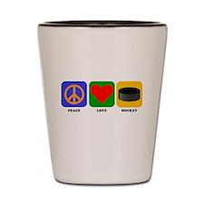 Peace Love Hockey Shot Glass
