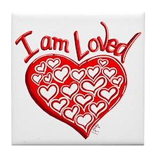 I am Loved Tile Coaster