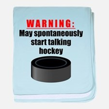 Spontaneous Hockey Talk baby blanket