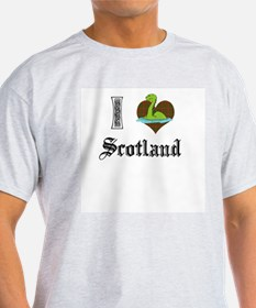I [HEART] SCOTLAND Ash Grey T-Shirt