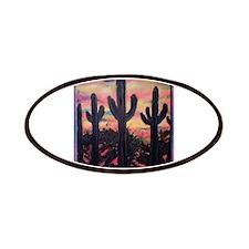 Saguaro cactus, southwest art Patches
