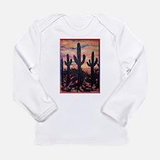 Saguaro cactus, southwest art Long Sleeve T-Shirt
