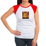 Devil Kitty Cat Women's Cap Sleeve T-Shirt