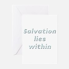 Salvation lies within Greeting Cards