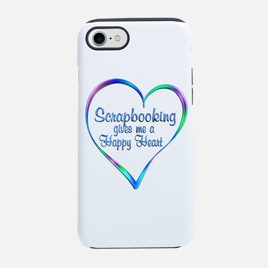 Scrapbooking Happy Heart iPhone 7 Tough Case