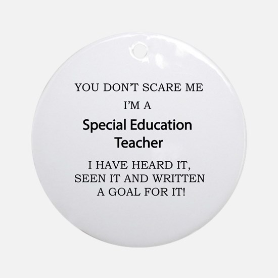 Special Education Teacher Round Ornament