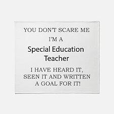 Special Education Teacher Throw Blanket