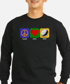 Peace Love Golf Long Sleeve T-Shirt