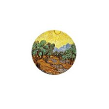 Van Gogh - Olive Trees with Yellow Sky Mini Button