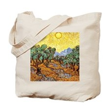 Van Gogh - Olive Trees with Yellow Sky an Tote Bag
