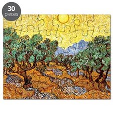 Van Gogh - Olive Trees with Yellow Sky and  Puzzle
