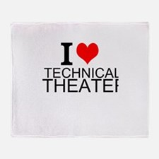 I Love Technical Theater Throw Blanket