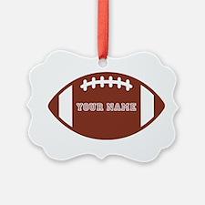 Custom name Football Ornament