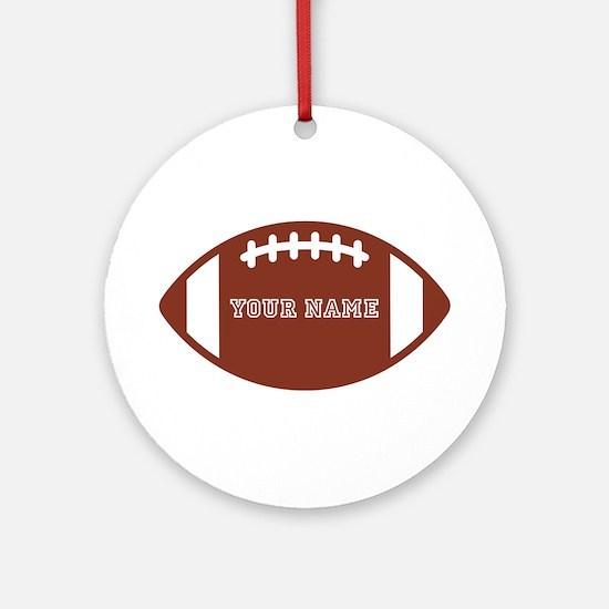 Custom name Football Ornament (Round)