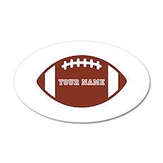 Custom name Football Wall Decal Sticker