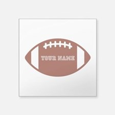 "Custom name Football Square Sticker 3"" x 3"""