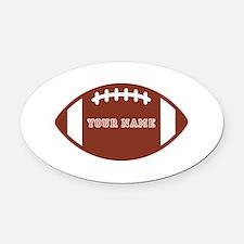 Custom name Football Oval Car Magnet