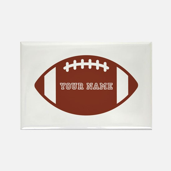 Custom name Football Rectangle Magnet