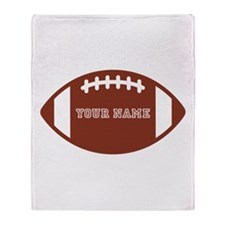 Custom name Football Throw Blanket