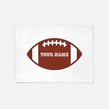 Custom name Football 5'x7'Area Rug