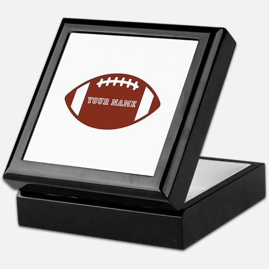 Custom name Football Keepsake Box