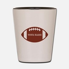 Custom name Football Shot Glass