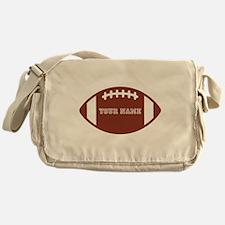 Custom name Football Messenger Bag