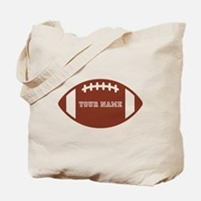 Custom name Football Tote Bag