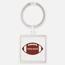 Custom name Football Square Keychain