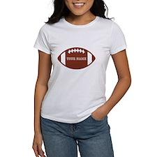 Custom name Football Tee