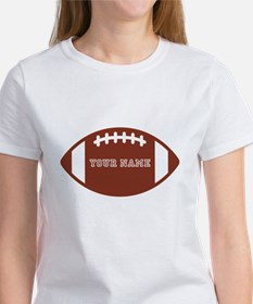 Custom name Football Tee