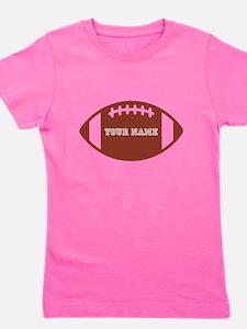 Custom name Football Girl's Tee
