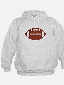 Custom name Football Hoodie