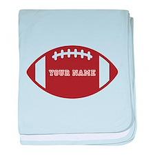 Custom name Football baby blanket