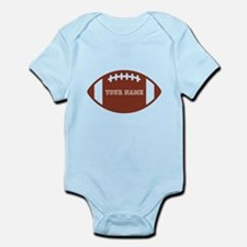 Custom name Football Infant Bodysuit