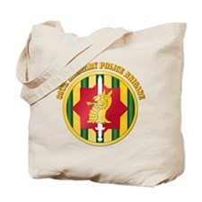 SSI - 89th Military Police Bde with Text Tote Bag