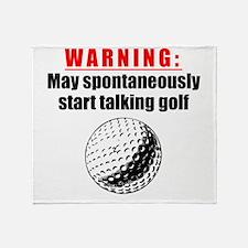 Spontaneous Golf Talk Throw Blanket